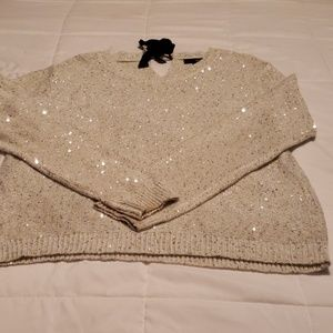 Cream and silver a.n.a sweater size medium
